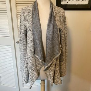 Club Monaco- marled grey draping cardigan